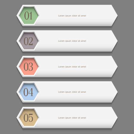 Horizontal trendy Design template. Vector website layout Stock Vector - 16469874