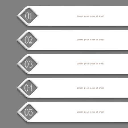 Modern white Design template. Vector website layout Illustration