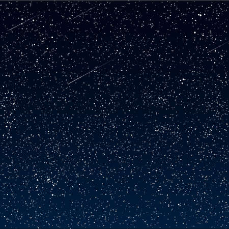 meteor shower: Vector abstract Space background Illustration