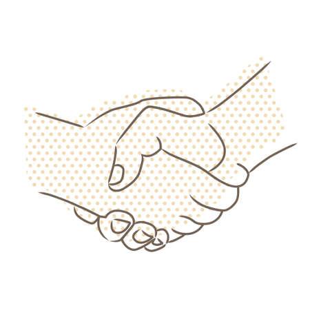 Vector drawing of handshake Illustration