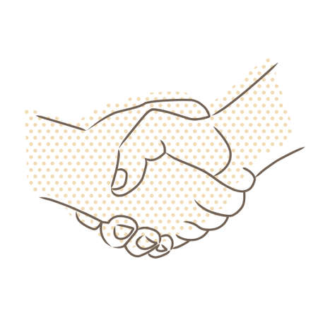 professional relationship:  Vector drawing of handshake Illustration