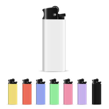 gas lighter: Vector set of lighters  Illustration