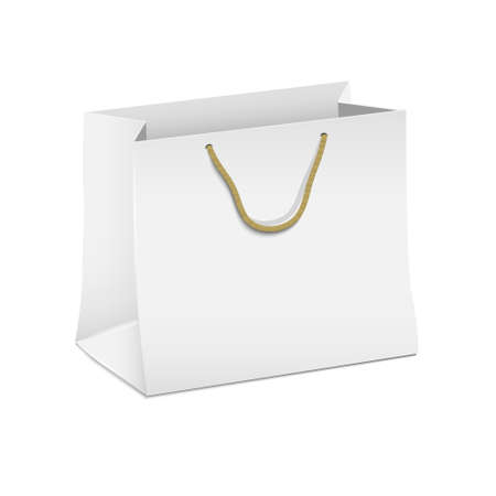 Vector white shopping paper bag Stock Vector - 16470051