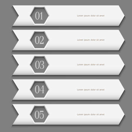 White Design template with stylized arrows  Vector website layout