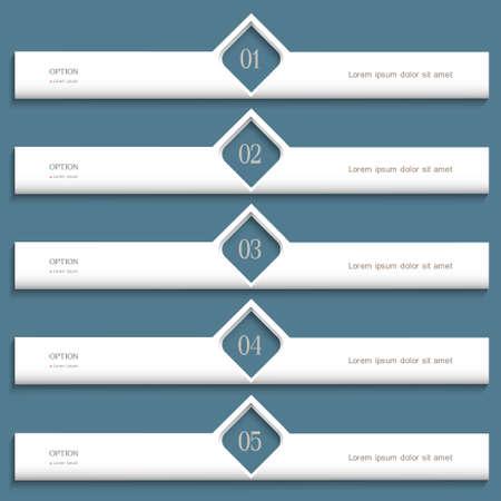 White modern Design template  Vector website layout Stock Vector - 16470025