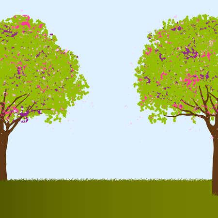 Beautiful trees  illustration Stock Vector - 16852879
