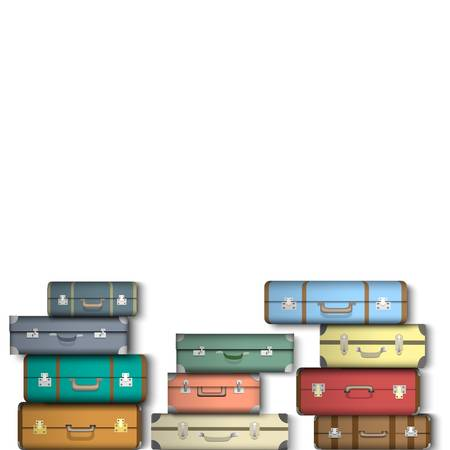 Colorful suitcases  Stock Vector - 16852931