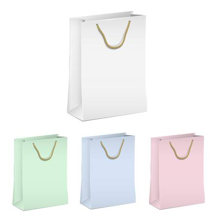 Empty shopping paper bags  set Stock Vector - 16852814