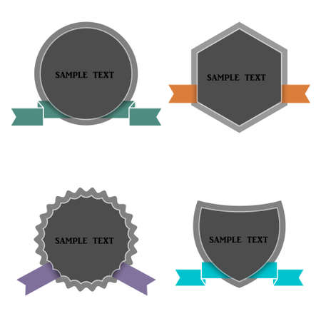 Four labels in retro style   Stock Vector - 16852689