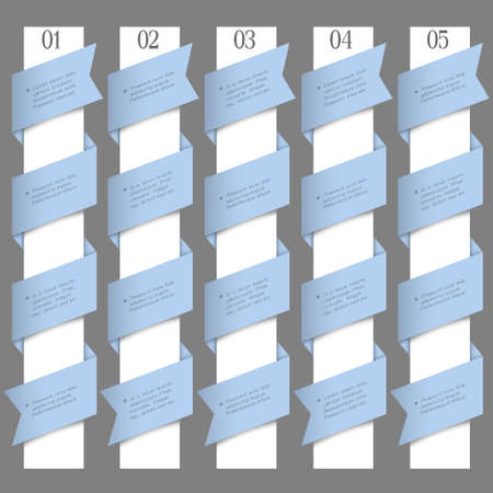 Numbered banners in origami style design template Stock Vector - 16852842