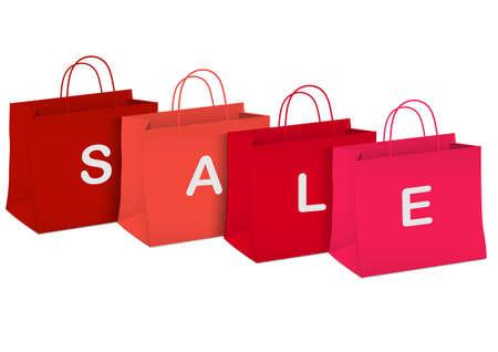 Seasonal sale - shopping bags.illustration Stock Vector - 16852833