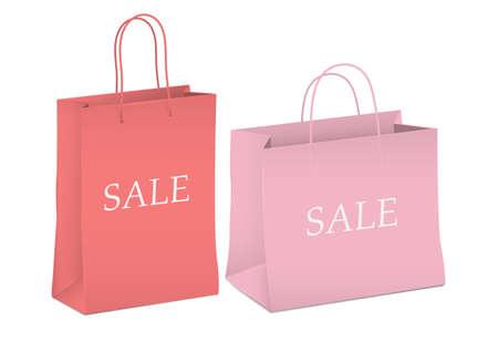 Seasonal sale - two shopping bags.illustration Stock Vector - 16852764