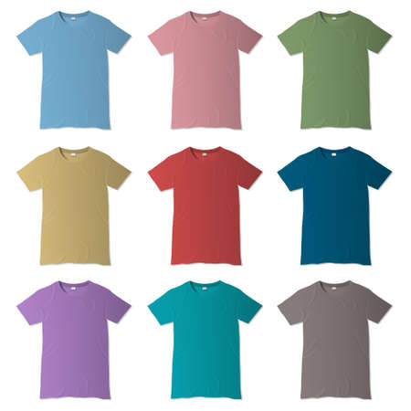 T-shirt design templates in various colors Stock Vector - 16852904