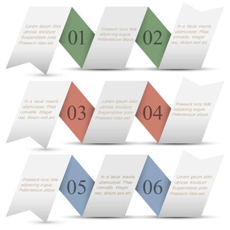 Three origami paper numbered banners.Trendy design template Stock Vector - 16852707