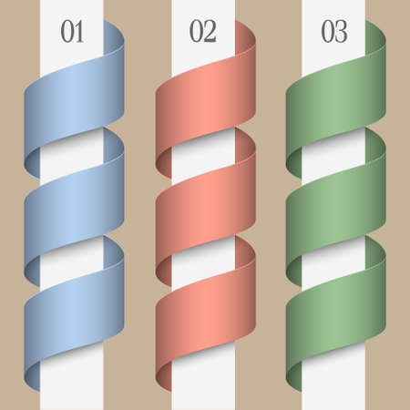 Three numbered ribbons-banners. Modern design template Stock Vector - 16852742