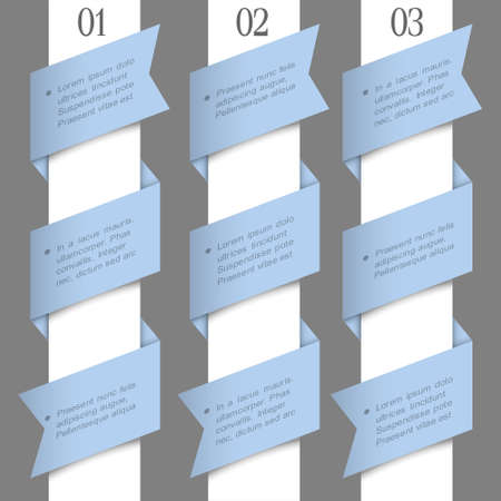Trendy paper numbered banners. design template  Vector