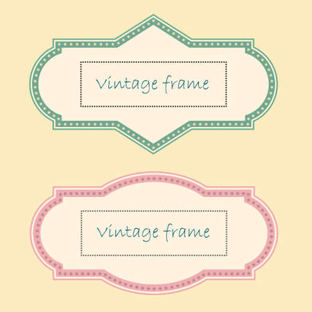 Two Vintage Frames.  Vector