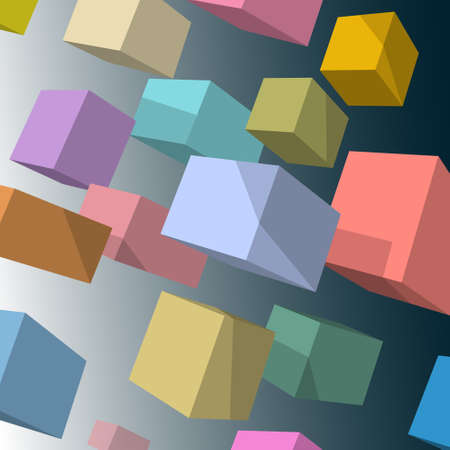 background with 3d colored cubes Stock Vector - 16852674