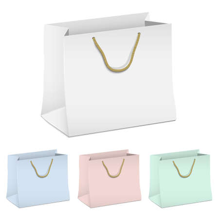 set of empty shopping paper bags Stock Vector - 16852792