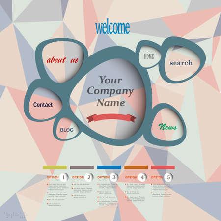 web design template  Geometric style Stock Vector - 16852760