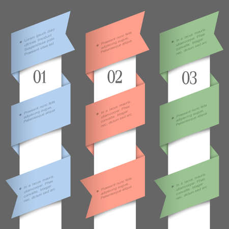 Vertical paper numbered banners  design template Stock Vector - 16852767
