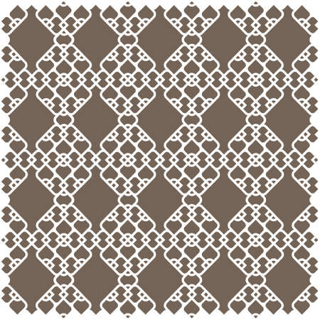 White pattern in islamic style on light brown background   Vector