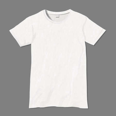 man clothing: White t-shirt design template
