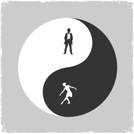 Yin Yang-Male and Female symbol  Concept illustration Stock Vector - 16852710
