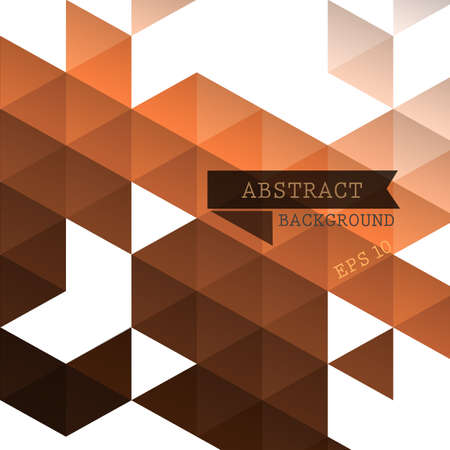 triangle shaped: Abstract geometric brown background for design  Illustration