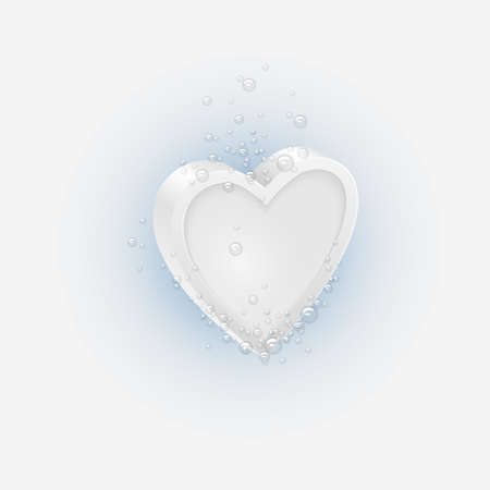 Effervescent tablet in shaped Heart  Conceptual vector illustration Stock Vector - 17338522