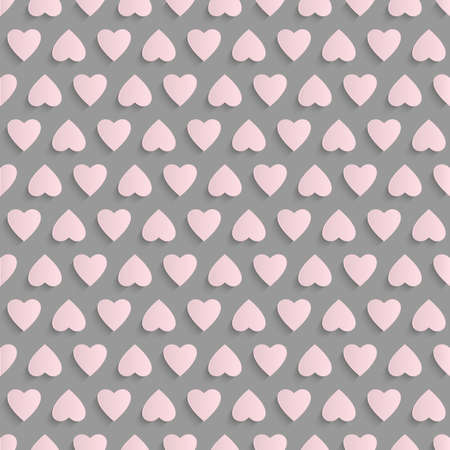 Seamless vector background with paper hearts Vector