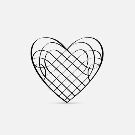 Vector calligraphic Heart Stock Vector - 17338476