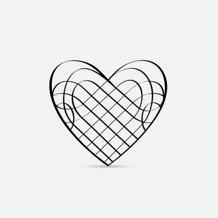 calligraphic design: Vector calligraphic Heart Illustration