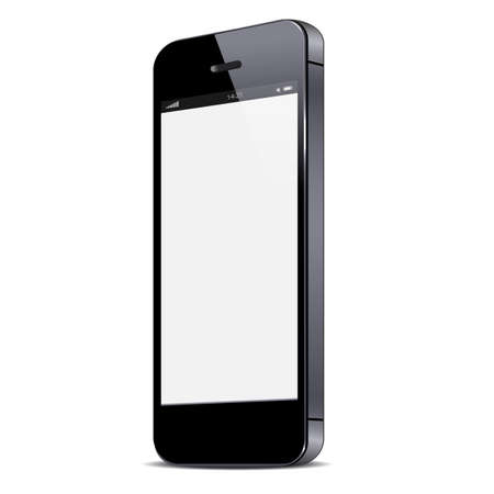 touch screen phone: Vector smartphone isolated on white background