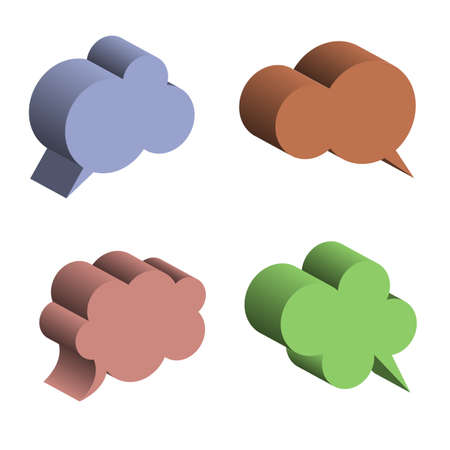 3D Speech Bubbles  Vector EPS10 Illustration