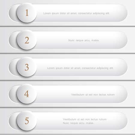 Creative  white design website layout  Vector eps10 Illustration