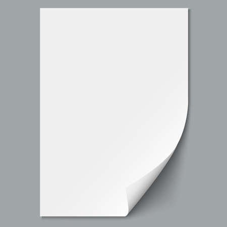 paper: Empty paper sheet. Vector EPS10