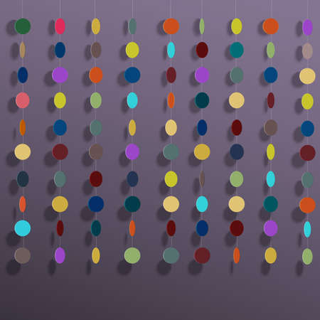 Hanging colorful circles. Vector background Stock Vector - 17755141