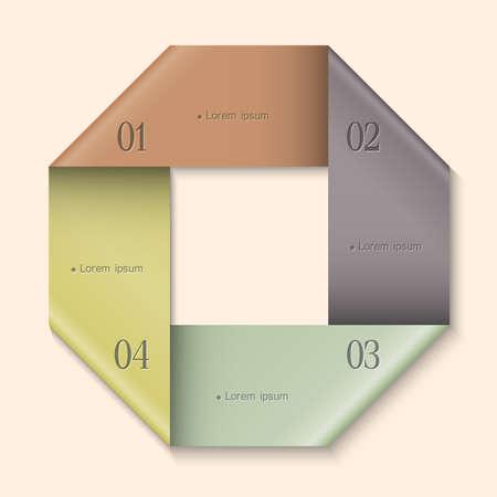 Modern Design template for infographics. Website layout vector Stock Vector - 17755113