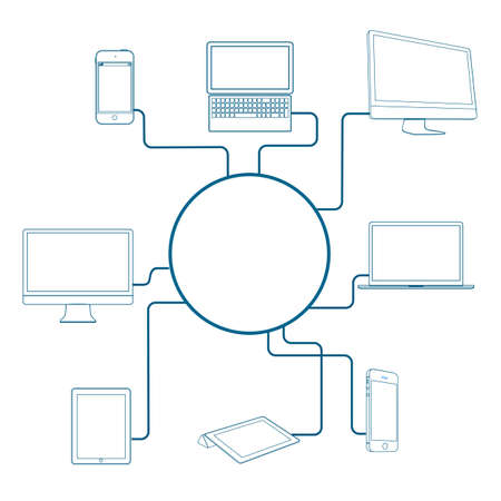 Modern Digital devices. Conceptual vector illustration Stock Vector - 17755090