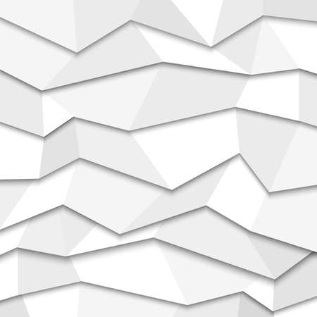 fondo geometrico: 3d white background paper - estilo origami. Vectores