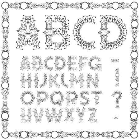 Calligraphic Swirly alphabet.  Stock Vector - 17911809