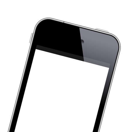 Modern mobile phone close-up shot  Vector