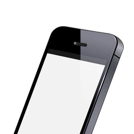Modern smart phone close-up   Vector