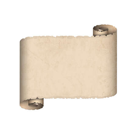 purim: Old scroll paper  Illustration