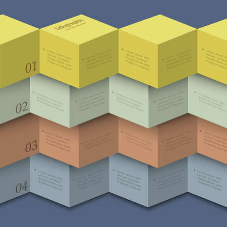 Origami style - design template for infographics,numbered banners,website layout Vector