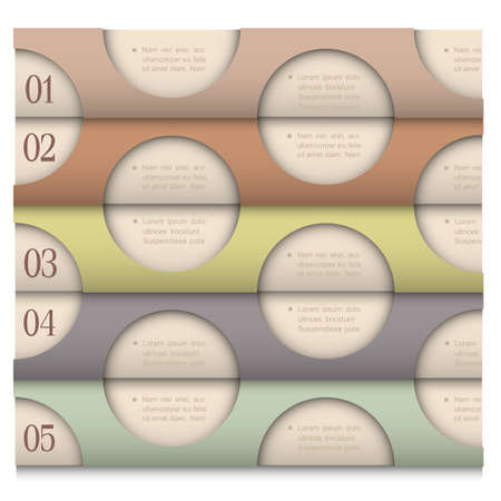 Retro Design template with circles for infographics  paper numbered banners   Stock Vector - 17911769