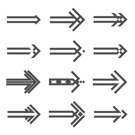 designator: Set of various arrows sign