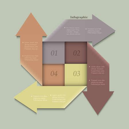 Trendy banners-arrows design for infographics,website templates or design graphic for business  Ilustração