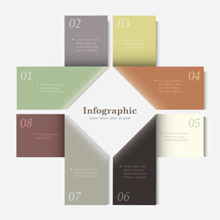 Trendy Design template for infographics, website templates and graphic business design.